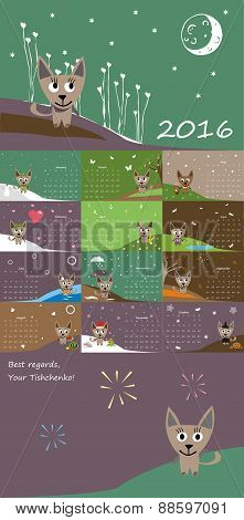 Calendar 2016 adventures of a cat