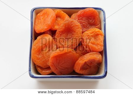 Dried Apricots In A Square Shape