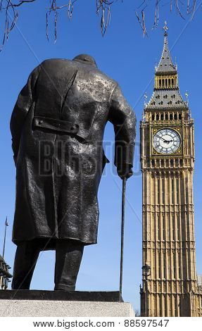 Sir Winston Churchill Statue In London