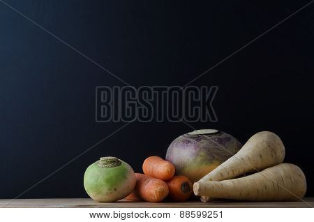 Root Vegetable Still Life Arrangement