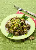 picture of stew  - stew meat with leek and pine nuts - JPG