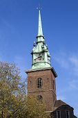 picture of church  - The spire of All Hallows by the Tower church  - JPG