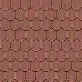 image of red roof tile  - Old tiled roof seamless generated texture or background - JPG