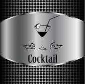 foto of cocktail menu  - beautiful cocktail glass design vector menu background - JPG