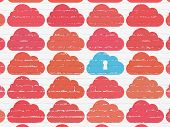 foto of wall cloud  - Cloud computing concept - JPG