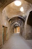 stock photo of zoroastrianism  - Roofed lane in the centre of old Yazd - JPG