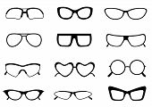 pic of spectacles  - Black different shaped spectacle  - JPG