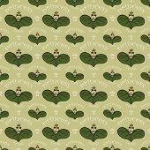 foto of princess crown  - seamless pattern with frog princess with crown - JPG