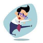 picture of karate  - Businessman karate - JPG