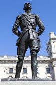 stock photo of smut  - A statue of former President of South Africa and Military Leader Jan Smuts situated on Parliament Square in London - JPG