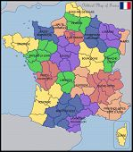 foto of political map  - Illustration of a Political Map of France - JPG