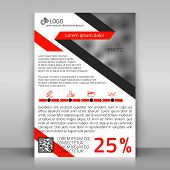 stock photo of diagonal lines  - Business flyer design brochure cover template - JPG