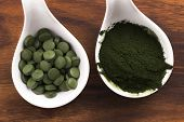 stock photo of chlorella  - Green chlorella - JPG