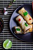 foto of thai cuisine  - fried spring rolls - JPG