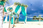 foto of wedding arch  - beach wedding venue - JPG