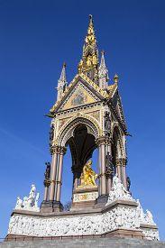 pic of kensington  - A view of the magnificent Albert Memorial in Kensington Gardens London - JPG