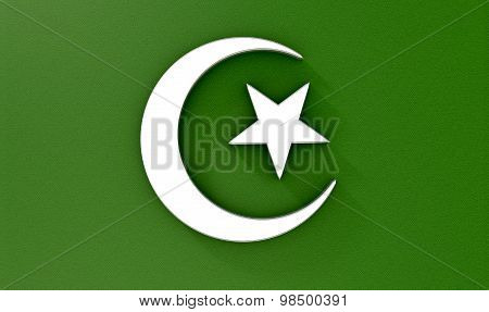 Muslim Crescent Moon And Star