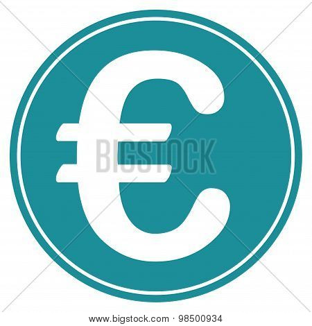 Euro coin icon from BiColor Euro Banking Set