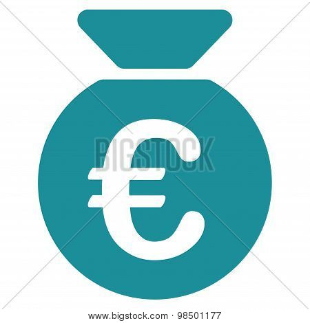 Money bag icon from BiColor Euro Banking Set