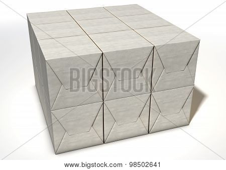 Wrapped Package Pile
