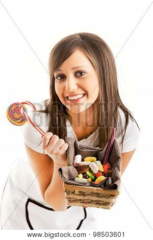 Woman Chef With Sweets