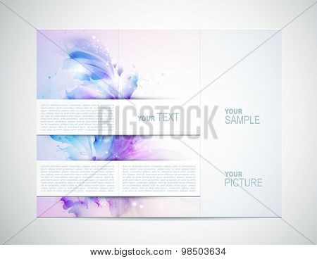 Brochure backgrounds with Abstract tender elements