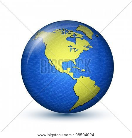 Earth. North and South America. Vector illustration