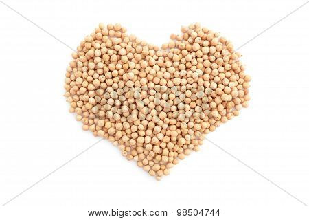 Dried Chick Peas In A Heart Shape