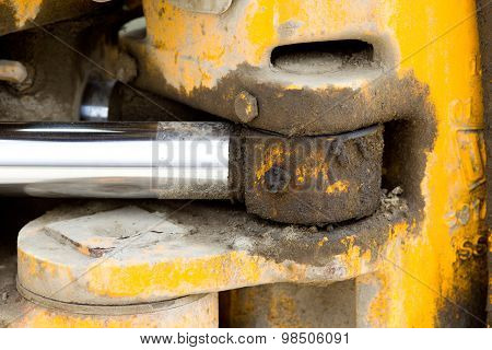 Hydraulic Piston On Bulldozer
