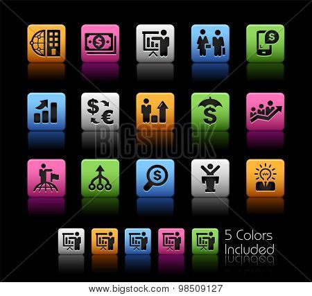 Business and Finance Strategies // ColorBox Series ---- The Vector file includes 5 color versions for each icon in different layers --