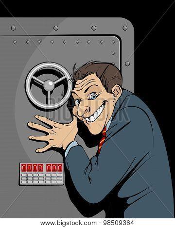 Banker With Safe