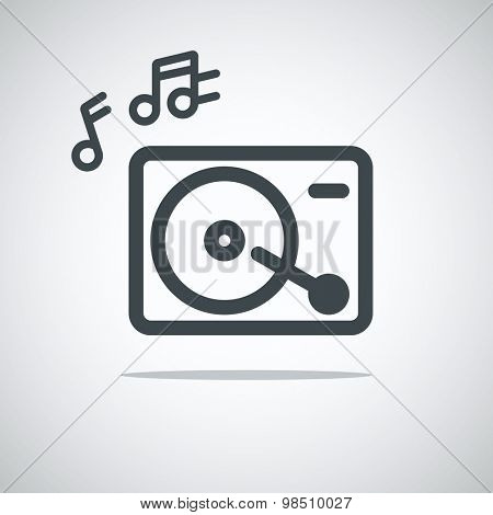 Modern media web icon. Music player