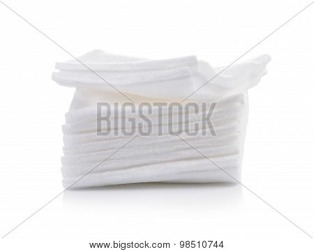 Cotton Bandage On White Background