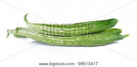 Snake Gourd On White Background