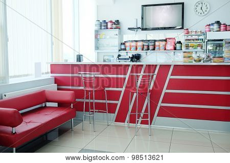 Interior with the image of bar table