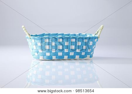 woven basket from recycle material