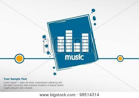 Sound Equalizer On Grunge Background.
