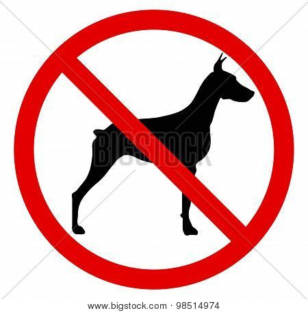 No dog. Vector illustration
