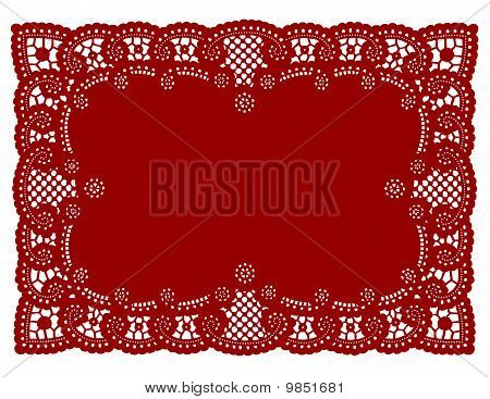 Red Lace Place Mat