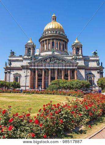 Isaac Cathedral With Roses