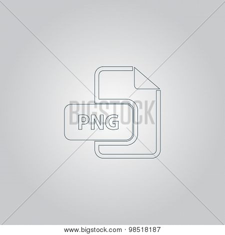 PNG image file extension icon.