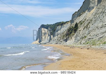 End Of The Agios Stefanos Beach At Corfu Greece