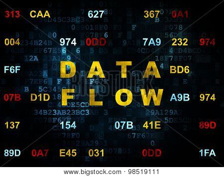 Information concept: Data Flow on Digital background