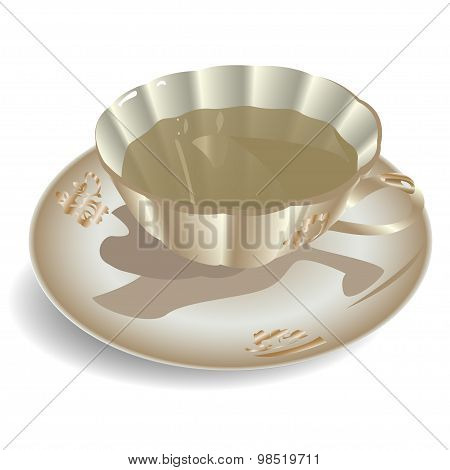 Cup Of Tea Vector Illustration