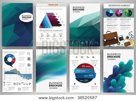 Blue Backgrounds And Concept Infographics And Icons