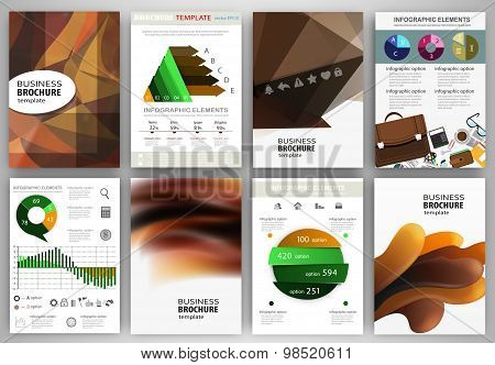 Abstract Brown Backgrounds And Concept Infographics And Icons