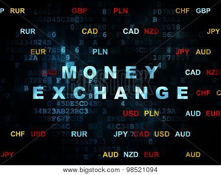 Currency concept: Money Exchange on Digital background