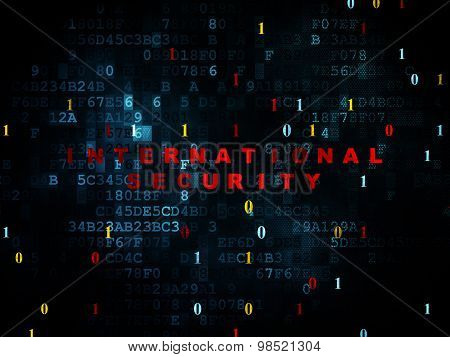 Privacy concept: International Security on Digital background