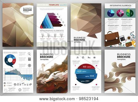 Abstract Beige Backgrounds And Concept Infographics And Icons