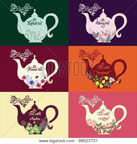 Teapot With Herbs And Fruit